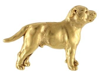 Staffordshire Bull Terrier body, millesimal fineness 999, dog pin, limited edition, ArtDog