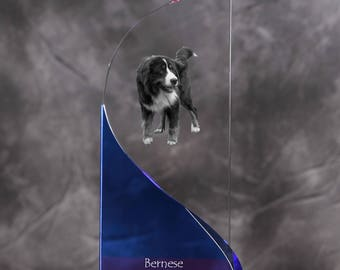 Bernese Mountain Dog- crystal statue in the likeness of the dog