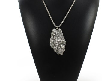 NEW, Briard (long head), dog necklace, silver cord 925, limited edition, ArtDog