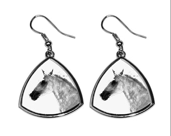 Barb horse, collection of earrings with images of purebred horses, unique gift. Collection!