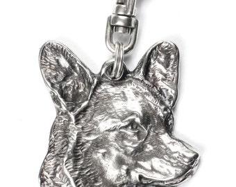 NEW, Welsh Corgi, dog keyring, key holder, limited edition, ArtDog . Dog keyring for dog lovers