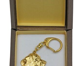 NEW, Beagle, millesimal fineness 999, dog keyring, in casket, keychain, limited edition, ArtDog . Dog keyring for dog lovers