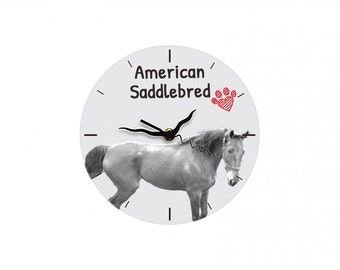 American Saddlebred, Free standing MDF floor clock with an image of a horse.