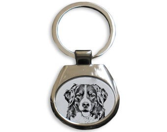 Bernese Mountain Dog - NEW collection of keyrings with images of purebred dogs, unique gift, sublimation . Dog keyring for dog lovers
