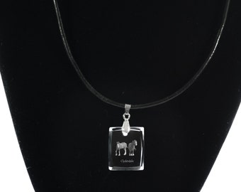 Clydesdale ,  Horse Crystal Necklace, Pendant, High Quality, Exceptional Gift, Collection!