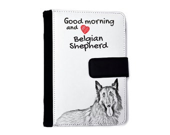 Belgian Shepherd, Malinois- Notebook with the calendar of eco-leather with an image of a dog! NEW COLLECTION!