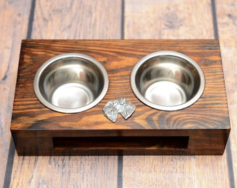 A dog's bowls with a relief from ARTDOG collection - Schnauzer