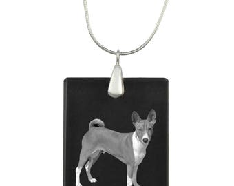 Basenji, Dog Crystal Pendant, SIlver Necklace 925, High Quality, Exceptional Gift, Collection!