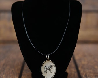 Shar-Pei, dog necklace, medallion, limited edition, extraordinary gift, ArtDog