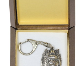 NEW, York Terrier, dog keyring, key holder, in casket, limited edition, ArtDog . Dog keyring for dog lovers
