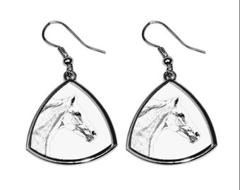 Czech Warmblood, collection of earrings with images of purebred horses, unique gift. Collection!