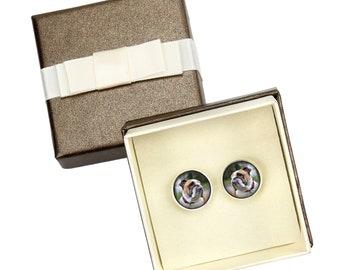 Bulldog, English Bulldog. Cufflinks with box for dog lovers. Photo jewellery. Men's jewellery. Handmade