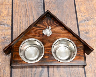 A dog's bowls with a relief from ARTDOG collection - Great Dane, Deautsche Dogge.