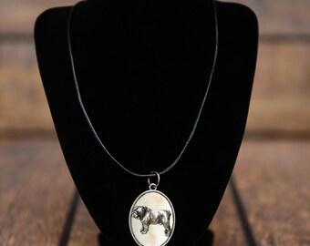 Bulldog, English Bulldog, dog necklace, medallion, limited edition, extraordinary gift, ArtDog
