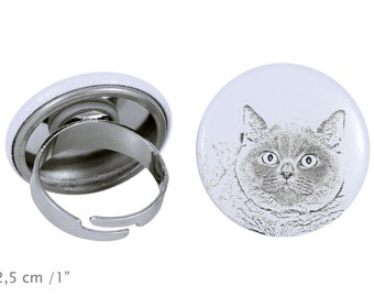 Ring with a cat - British Shorthair