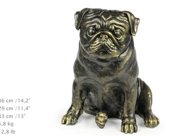 Pug, dog natural size statue, limited edition, ArtDog