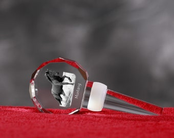 Mustang, Crystal Wine Stopper with Horse, Wine and Horse Lovers, High Quality, Exceptional Gift. New Collection