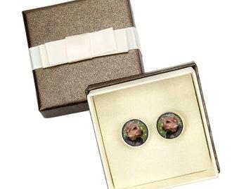 Norfolk Terrier. Cufflinks with box for dog lovers. Photo jewellery. Men's jewellery. Handmade