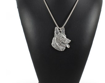 NEW, German Shepherd, dog necklace, silver chain 925, limited edition, ArtDog