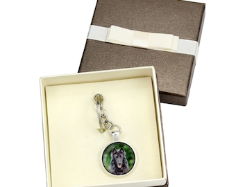 Belgian Shepherd, Malinois. Keyring, keychain with box for dog lovers. Photo jewellery. Men's jewellery. Handmade.
