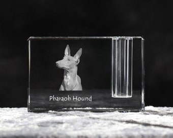 Pharaoh Hound, crystal pen holder with dog, souvenir, decoration, limited edition, Collection