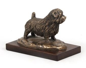 Norfolk Terrier, dog wooden base statue, limited edition, ArtDog