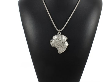 NEW, Border Terrier, dog necklace, silver cord 925, limited edition, ArtDog