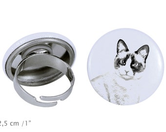 Ring with a cat - Snowshoe cat