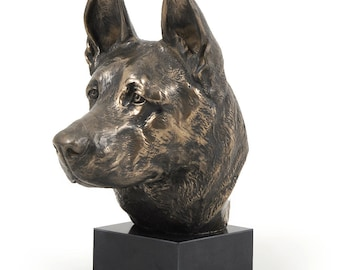German Shepherd, dog marble statue, limited edition, ArtDog. Made of cold cast bronze. Perfect gift. Limited edition