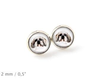 Shih Tzu. Pet in your ear. Earrings. Photojewelry. Handmade.