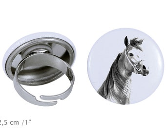 Ring with a horse - Arabian, Arab horse