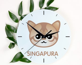 A clock with a Singapura cat. A new collection with the cute Art-Dog cat