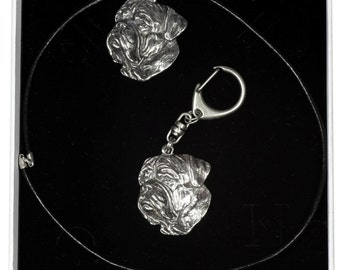 ArtDog Dog Keyring and Necklace in Casket Limited Edition Pharaoh Hound Elegance Set