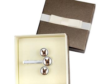 German Shepherd. Jewelry for dog lovers. Cufflinks and tie pin . Photo jewellery. Men's jewellery. Handmade