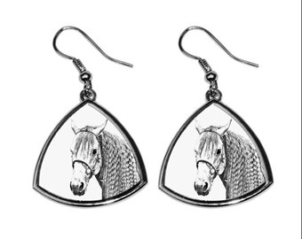 Azteca horse, collection of earrings with images of purebred horses, unique gift. Collection!