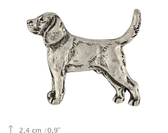 Beagle, Tricolour Beagle, dog pin, limited edition, ArtDog