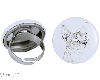 Ring with a cat -Chausie