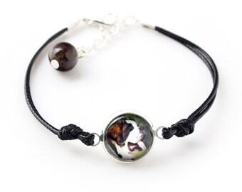 Saint Bernard. Bracelet for people who love dogs. Photojewelry. Handmade.