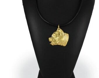 Pit Bull, millesimal fineness 999, dog necklace, limited edition, ArtDog
