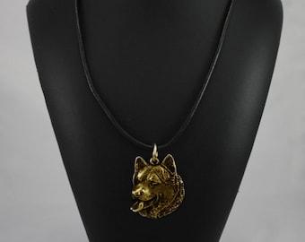 Alaskan Malamute, Mal or Mally, millesimal fineness 999, dog necklace, limited edition, ArtDog