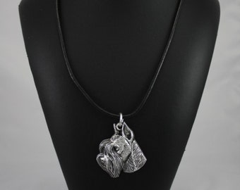 Schnauzer (with parting), dog necklace, limited edition, ArtDog