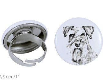 Ring with a dog - Schnauzer