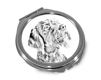 German Wirehaired Pointer - Pocket mirror with the image of a dog.