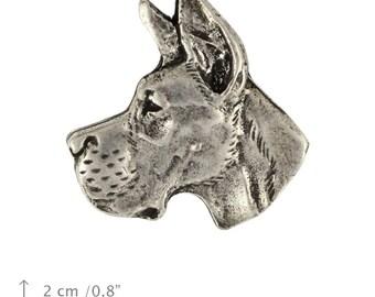 Great Dane (head cut), dog pin, limited edition, ArtDog