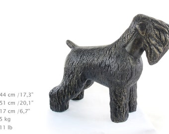 Black Russian Terrier, dog natural size statue, limited edition, ArtDog