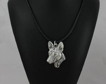 Basenji, dog necklace, limited edition, ArtDog