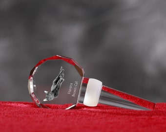 Havana Brown, Crystal Wine Stopper with cat, Wine and Cat Lovers, High Quality, Exceptional Gift. New Collection