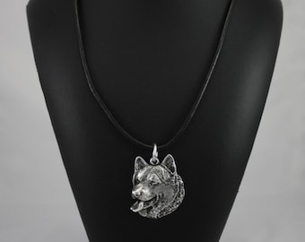 Alaskan Malamute, Mal or Mally, dog necklace, limited edition, ArtDog