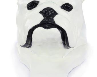 Urn for dog ashes - Bulldog, English Bulldog statue. ArtDog Collection Cremation box, Custom urn.
