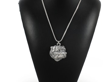 NEW, Norfolk Terrier, dog necklace, silver chain 925, limited edition, ArtDog